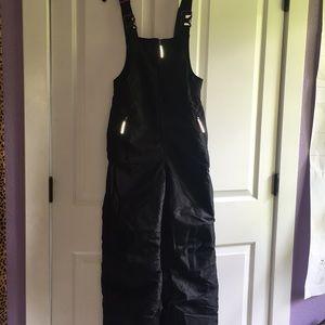 Black Champion size L 10-12 Snow overalls.